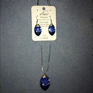 Gorgeous Van Gogh Necklace and Earrings